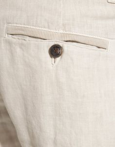 Zara Linen Trousers with Pocket Detail in Beige for Men (natural) - Lyst