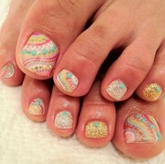 Summer nail art for toes!