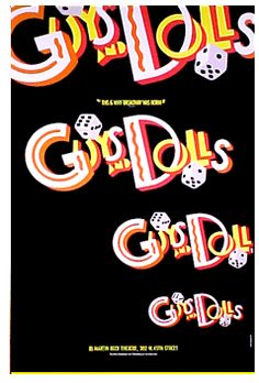 Guys and Dolls the Musical Broadway Poster (1992 Revival)
