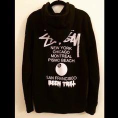 Used Stussy x Been Trill 8 ball hoodie small $79 shipped. #stussy #beentrill #deadstock #fushionism #hba #pyrex #offwhite #neighborhood #nbhd #bape #clot #supreme #wtaps #originalfake #kaws