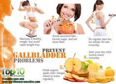 to Prevent Gallbladder Problems