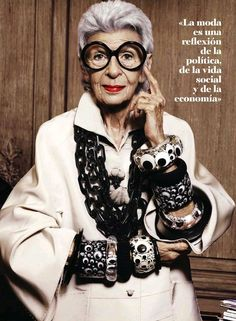 "The Terrier and Lobster: ""Iris the Great"": Iris Apfel by Alique for S Moda March 2013"