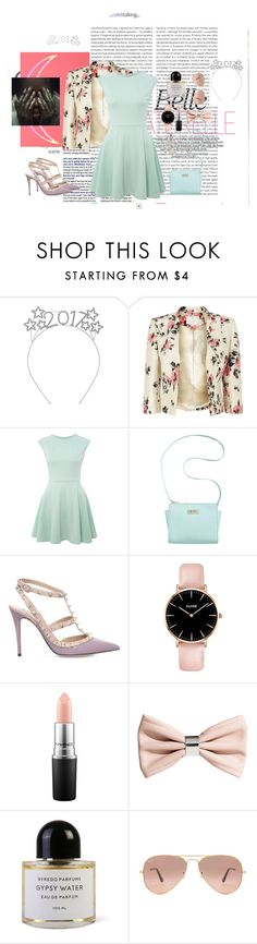"""""""Untitled #288"""" by lovecorned ❤ liked on Polyvore featuring Oris, Jacques Vert, John Zack, Marc Fisher, Valentino, MAC Cosmetics, H&M, Byredo, Ray-Ban and Forever 21"""