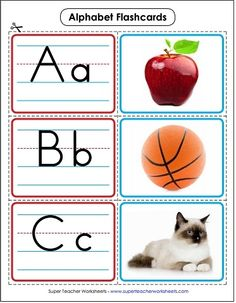 Alphabet flashcards for young learners