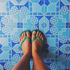 Patterns ? #tiles #blue #travel #wanderlust #freefloaters #inspiration #bali #vscocam