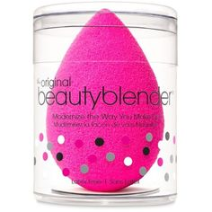 Beauty Blender174 Bright Pink Original Mini Makeup Sponge Applicator ($20) ❤ liked on Polyvore featuring beauty products, makeup, makeup tools, bright pink and beautyblender