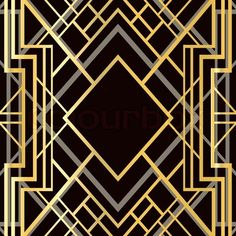 Vector Of Art Deco Geometric Frame 1920 S Style Stock Ilration