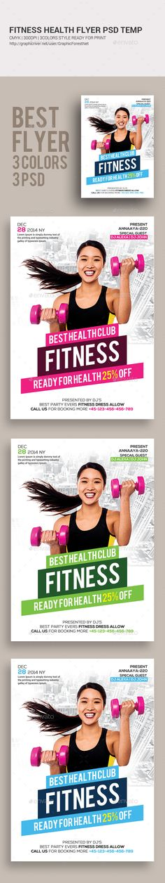 Fitness Flyer  Ai Illustrator Flyer Template And Template