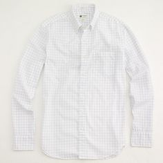 Order until 12/21 @ 11:59pm; Blue White Grid Color; Large Size; Factory washed shirt in thin open tattersall