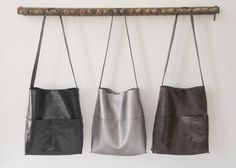 The Alesia Soft Leather Bag Hand Sewn by Stitch and Tickle