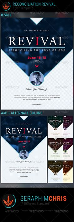 Reconciliation Revival: Church Flyer Template - Church Flyers