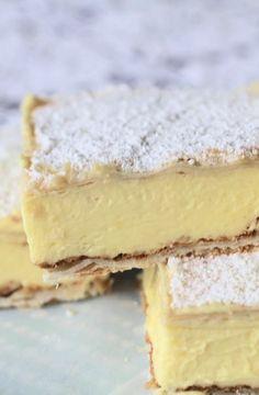 Low FODMAP Recipe and Gluten Free Recipe - Vanilla custard slices http://www.ibs-health.com/low_fodmap_vanilla_custard_slices.html