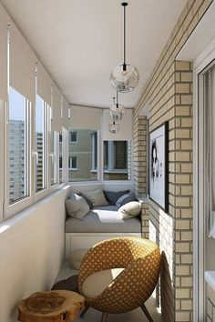 Examples for Small Balcony Decoration, . - Phoebe Home Apartment Balcony Decorating, Apartment Interior Design, Apartment Ideas, Appartement Design, Balcony Design, Balcony Ideas, Window Design, Contemporary Apartment, Cool Apartments