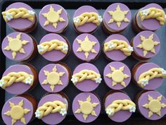 And off. course I made cupcakes to match the Rapunzel birthday cake! :)