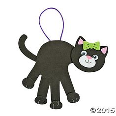 Black Cat Handprint Craft Kit, Decoration Crafts, Crafts for Kids, Craft & Hobby Supplies - Oriental Trading Toddler Crafts, Crafts For Kids, Arts And Crafts, Projects For Kids, Craft Activities, Preschool Crafts, Preschool Ideas, Keepsake Crafts, Footprint Crafts