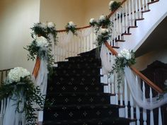 decorating the staircase for a wedding - Google Search