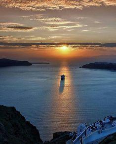 Sunset, Santorini Island, Greece