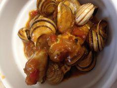 Caracoles en salsa de tomate picante sin gluten paso a paso