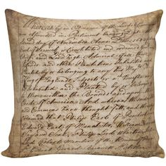 Home Decor Toss Pillow Vintage French Style Handwriting Script... (620 MXN) ❤ liked on Polyvore featuring home, home decor, throw pillows, black, decorative pillows, home & living, home décor, black home decor, burlap throw pillows and black throw pillows