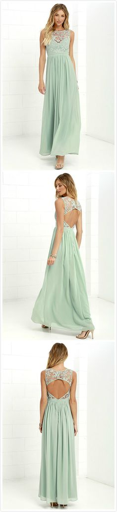 Women's Floral Lace Paneled Backless Prom Dress