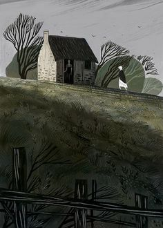 Júlia Sardà illustration for 'The Withered Arm & Other Stories' by Thomas Hardy Design Graphique, Art Graphique, Edition Jeunesse, Children's Book Illustration, Digital Illustration, Illustrations And Posters, Art Inspo, Artwork, Cool Art