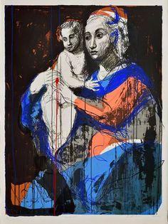 Kuutti Lavonen: Uusi äiti, 2014, serigrafia. (KUVA: ALBERTO MARTINEZ) Cy Twombly, Caravaggio, Tempera, Rembrandt, Finland, Buddha, Fine Art, Eye, Fictional Characters