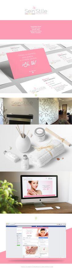 Identidad visual, POP para spa, Diseño web, Publicidad Online y Redes sociales.