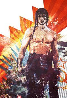 John Rambo Art Print by Hans Eiskonen starting at $20.80