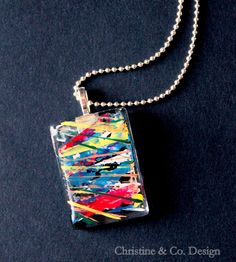 Graffiti Inspired and Totally Abstract Glass Pendant by ChristineandCodesign, $24.00a