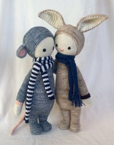 RADA the rat / RITA the rabbit made by Lydia / crochet patterns by lalylala