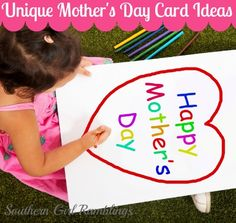 3 Unique Mother's Day Card Ideas from southerngirlramblings.com! #MothersDay #Crafts
