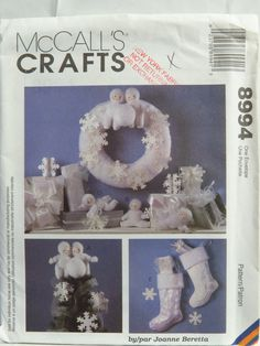 McCall's 8994 Snow Babies Holiday Decorations