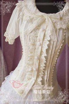 """Magic Tea Party """"Cultivates Qi"""" cotton blouse"""