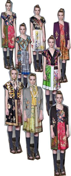 Re-use and re-design, New dresses from old silk scarves!