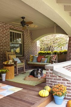 Is this gorgeous front porch in your future dream home plans.  Make sure protecting it is too!    www.amfam.com/learning-center/my-home/home-winterizing-tips.asp?sourceid=PIN_HM_WINTER