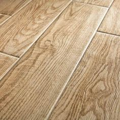 new porcelain tile at Home Depot that looks like wood - very attractive but must be on level floor and use special products to install  MARAZZI Montagna Natural 24 in. x 6 in. Glazed Porcelain Floor and Wall Tile (14.53 sq. ft. / case)