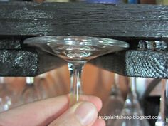Build a no-cost wineglass rack from leftover furring scraps.