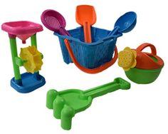 Dazzling Toys Kid's Toy Beach/Sandbox Tool Playset - Castle Bucket 7 Piece Set, 2015 Amazon Top Rated Sandboxes & Accessories #Toy