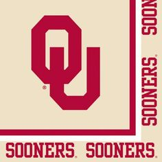 Club Pack of 240 Ncaa Oklahoma Sooners 2-Ply Tailgating Party Lunch Napkins, Red