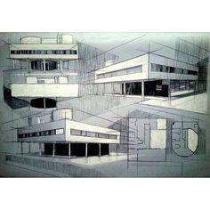 Le Corbusier's Villa Savoye by @pittluk #archisketcher