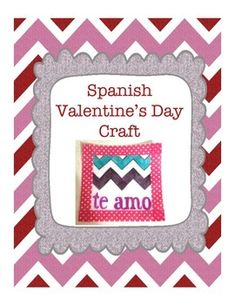 Faux stained glass craft activity for Spanish class on Valentine's Day!  {El día de San Valentín}