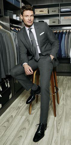 Ryan Seacrest for Macys is from Atlanta,Ga Dressed To The Nines, Sharp Dressed Man, Well Dressed Men, Modern Gentleman, Gentleman Style, Style Masculin, Ryan Seacrest, Suit Shoes, Designer Suits For Men