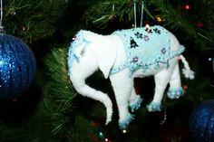 Elephant Christmas tree ornament