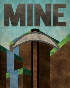 Minecraft Propaganda Poster. via Etsy.