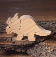 Triceratops wooden dinosaur toys