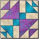 Triangle Chain free quilt block pattern. I use the Creative Grids Cat's Cradle ruler and it produces easy and exact blocks.