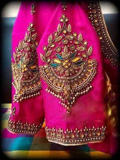 Cutwork Blouse Designs, Pattu Saree Blouse Designs, Simple Blouse Designs, Stylish Blouse Design, Bridal Blouse Designs, Blouse Neck Designs, Sleeve Designs, Zardosi Work Blouse, Hand Work Blouse Design