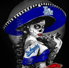 Dodger Dodgers Baseball, Dodgers Shirts, Dodgers Nation, Let's Go Dodgers, Dodgers Girl, Los Angeles Dodgers Logo, Chicano Art, Chicano Drawings, Cholo Art