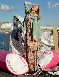 Lindsey Wixson for Mulberry Spring 2012, photographed by Tim Walker.