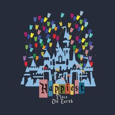 Awesome 'Happiest+Place+on+Earth' design on TeePublic! Disney T-shirts, Disney Shoes, Disney Style, Disney Love, Earth Design, Kids Fashion Boy, Christmas Gifts, Places, Happy